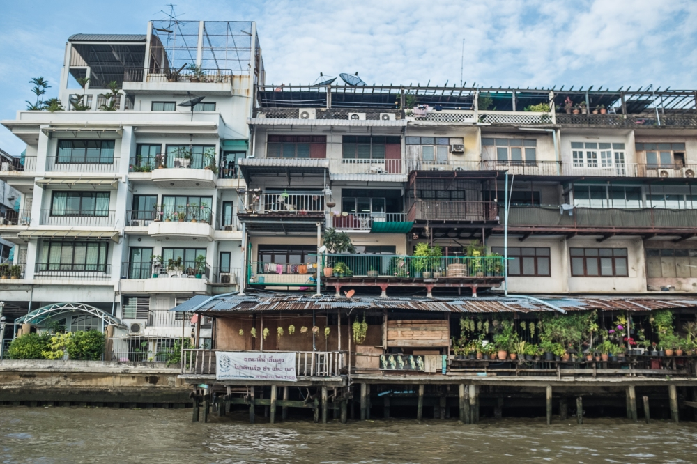 thailand river front housing flats