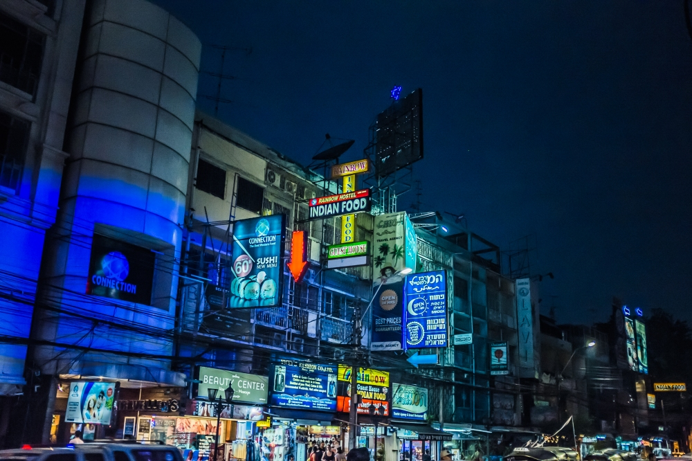 bangkok street signs neon
