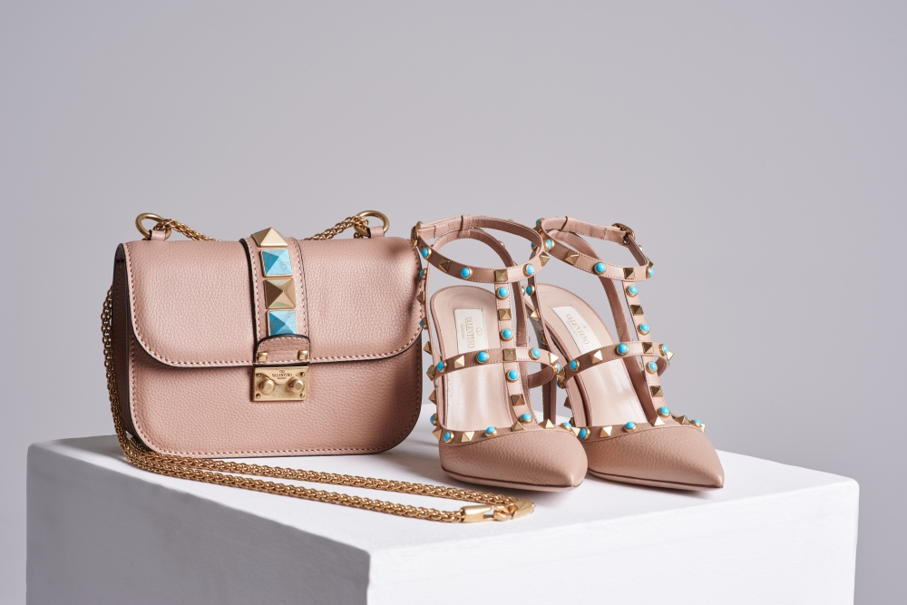 Valentino rockstud handbag and heel set