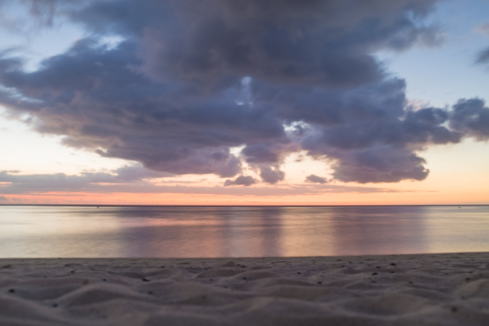 mauritius stormy sunset sky
