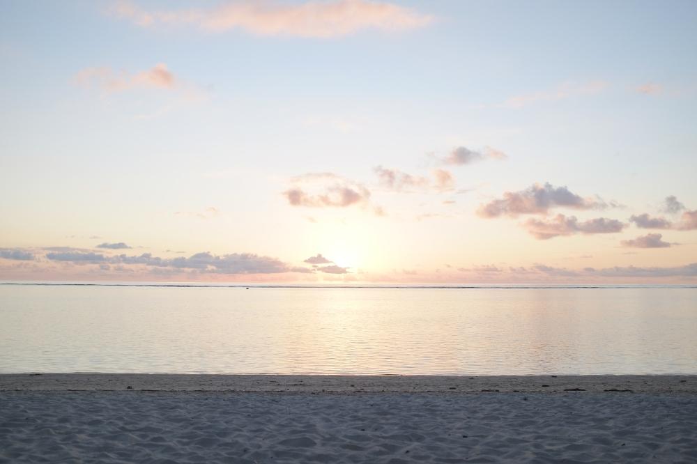 mauritius sky sunset