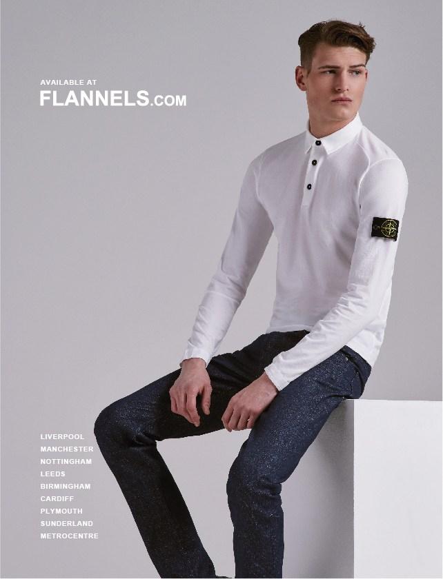 Flannels Advert tear sheet stone island