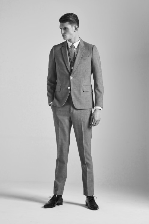 model wearing suit monochrome photography