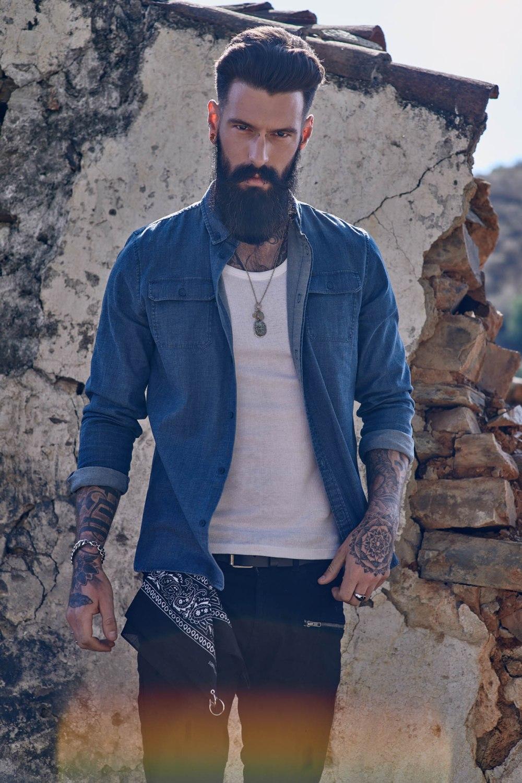 tattoo and beard model
