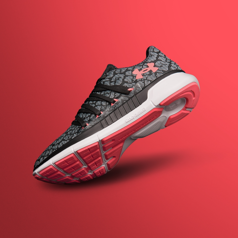 under armour ladies trainer on raspberry