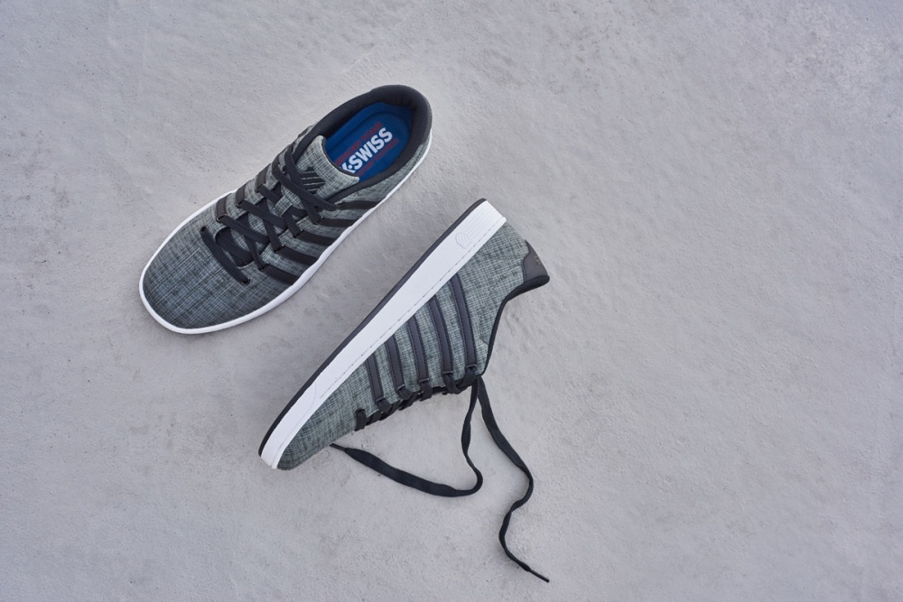 footwear lifestyle flatlay concrete
