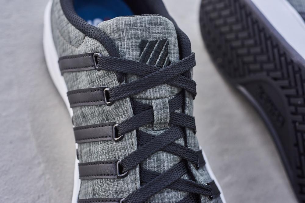 lifestyle flatlay concrete shoe