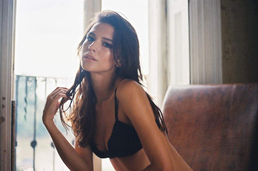 lingerie model analogue photography